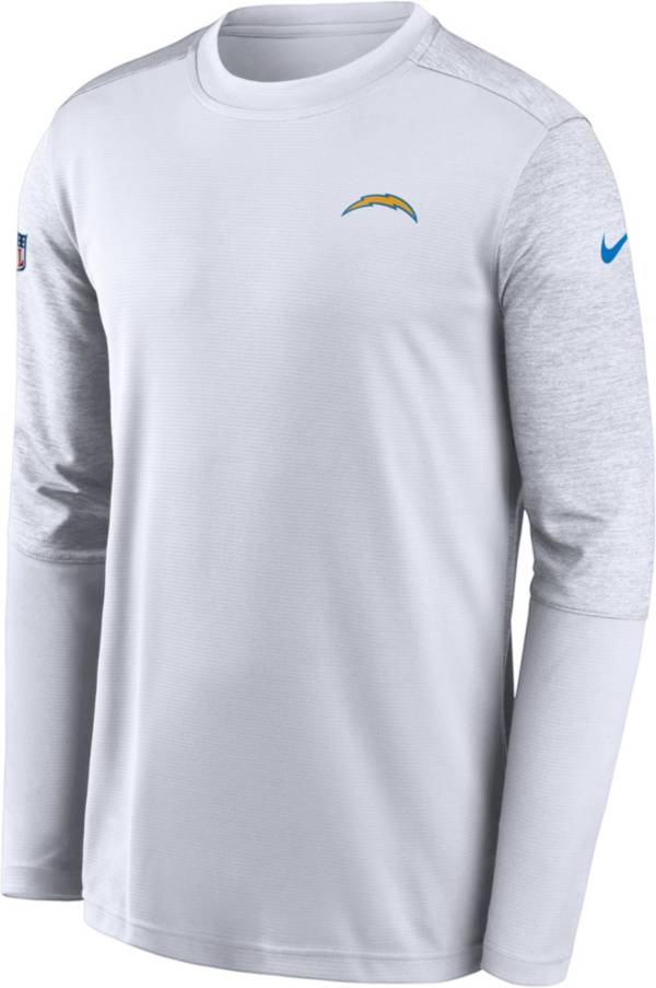 Nike Men's Los Angeles Chargers White Coach Long Sleeve T-Shirt product image