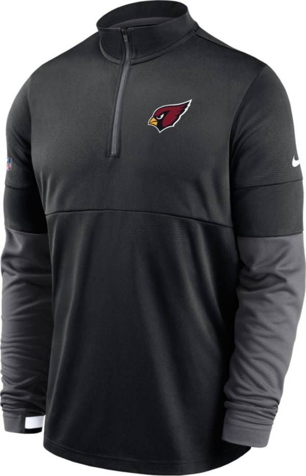 Nike Men's Arizona Cardinals Sideline Coach Performance Black Half-Zip Pullover product image