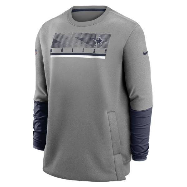 Nike Men's Dallas Cowboys Sideline Coaches Crewneck Sweatshirt product image