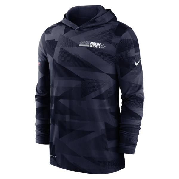 Nike Men's Dallas Cowboys Sideline Hooded Long Sleeve Shirt product image