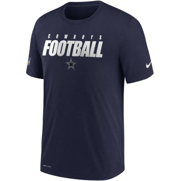 Nike Men's Dallas Cowboys Sideline Dri-FIT Cotton Football All Navy T-Shirt product image