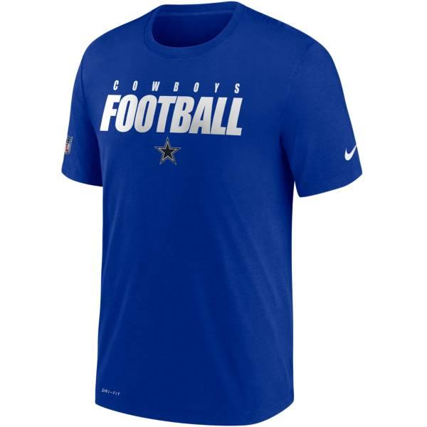 Nike Men's Dallas Cowboys Sideline Dri-FIT Cotton Football All Royal T-Shirt product image
