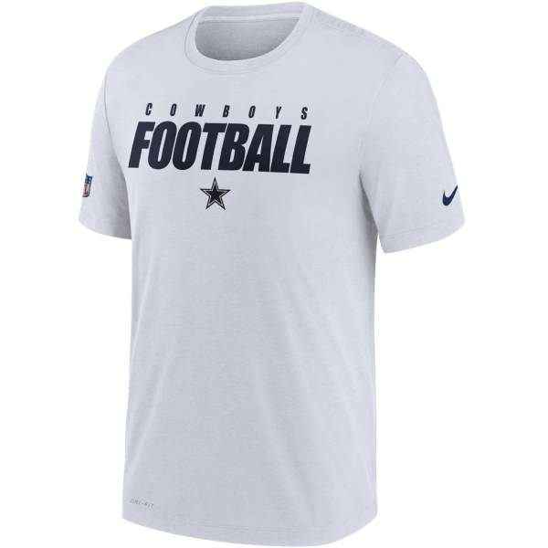 Nike Men's Dallas Cowboys Sideline Dri-FIT Cotton Football All White T-Shirt product image