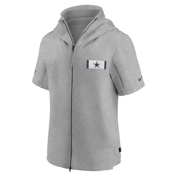 Nike Men's Dallas Cowboys Sideline Showout Short Sleeve Hooded Sweatshirt product image