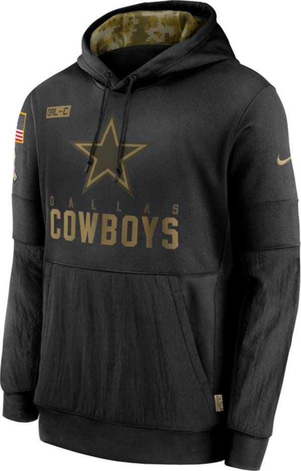 Nike Men's Salute to Service Dallas Cowboys Black Therma-FIT Pullover Hoodie product image