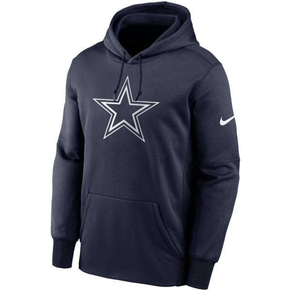 Nike Men's Dallas Cowboys Therma Logo Navy Hoodie product image