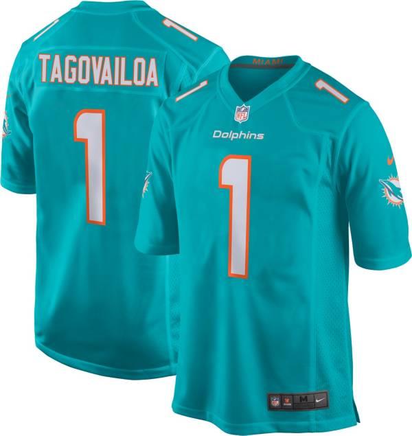 Nike Men's Miami Dolphins Tua Tagovailoa #1 Aqua Game Jersey