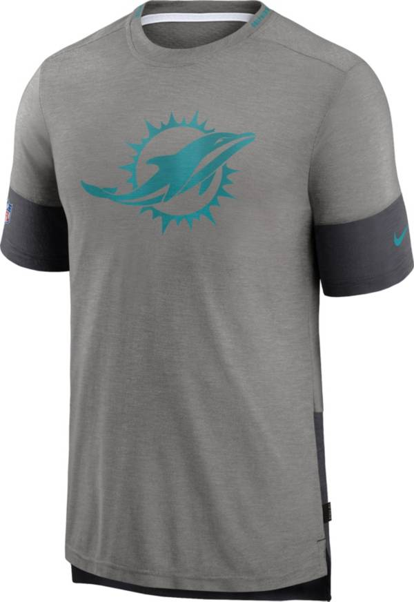 Nike Men's Miami Dolphins Grey Sideline Player T-Shirt product image