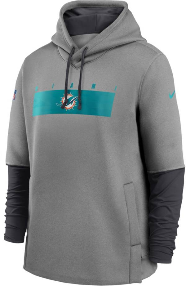 Nike Men's Miami Dolphins Sideline Therma-FIT Heavy Grey Hoodie product image