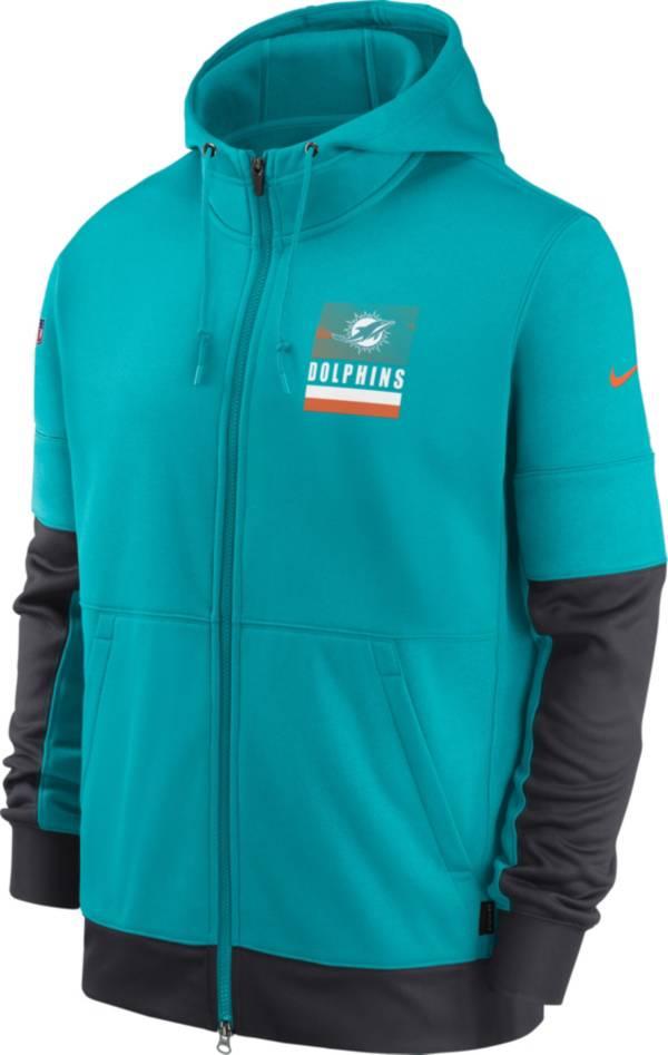 Nike Men's Miami Dolphins Sideline Lock Up Aqua Full-Zip Hoodie product image