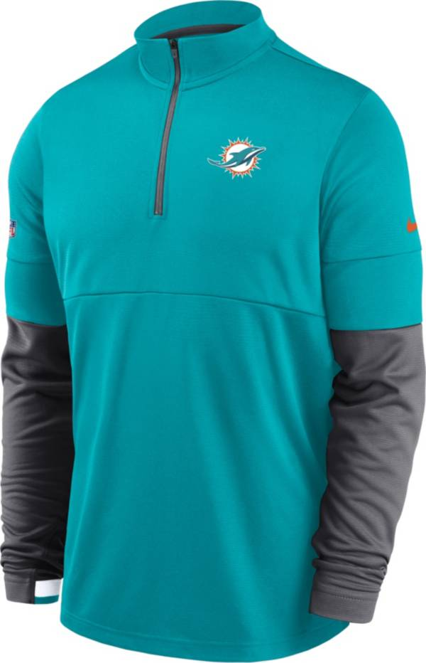 Nike Men's Miami Dolphins Sideline Coach Performance Green Half-Zip Pullover product image