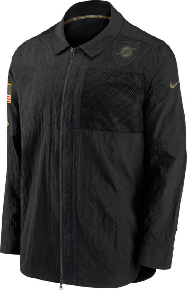 Nike Men's Salute to Service Miami Dolphins Black Shirt Jacket product image