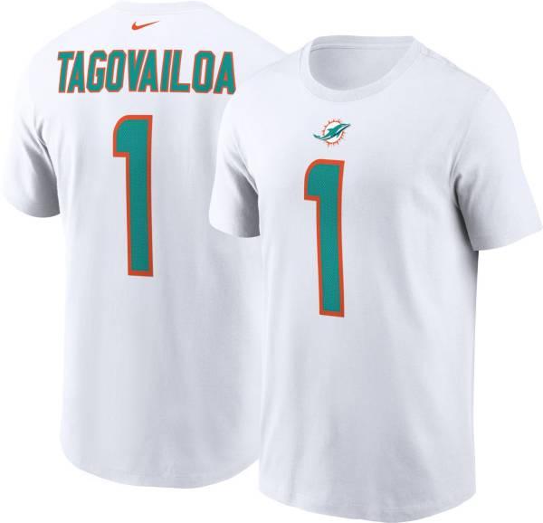 Nike Men's Miami Dolphins Tua Tagovailoa #1 Logo White T-Shirt product image