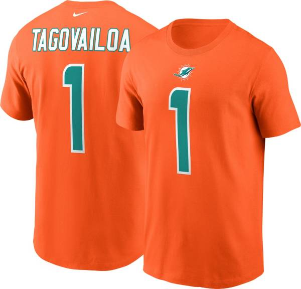 Nike Men's Miami Dolphins Tua Tagovailoa #1 Logo Orange T-Shirt product image