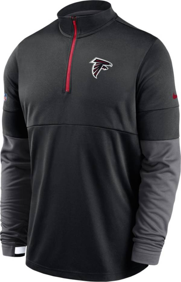 Nike Men's Atlanta Falcons Sideline Coach Performance Red Half-Zip Pullover product image