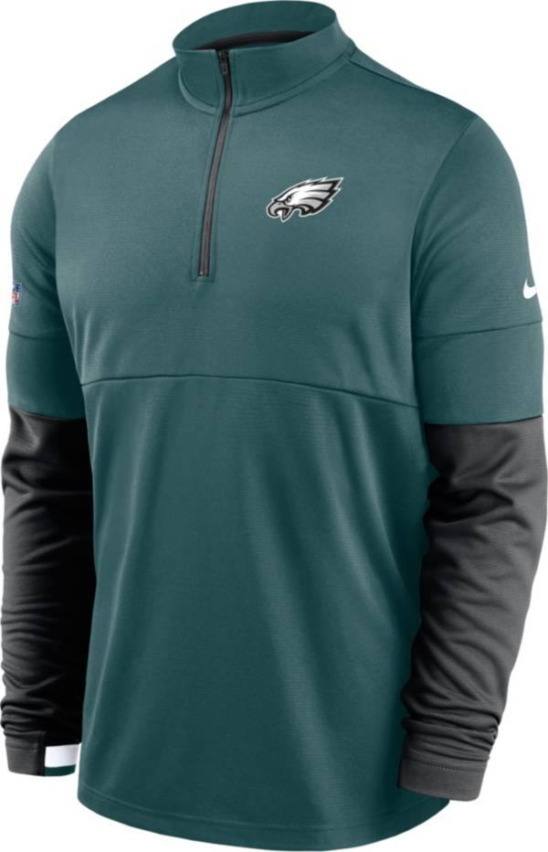 Nike Men's Philadelphia Eagles Sideline Coach Performance Teal Half-Zip Pullover product image