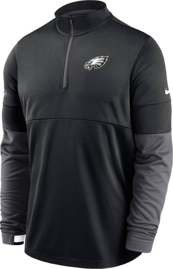 Nike Men's Philadelphia Eagles Sideline Coach Performance Black Half-Zip Pullover product image