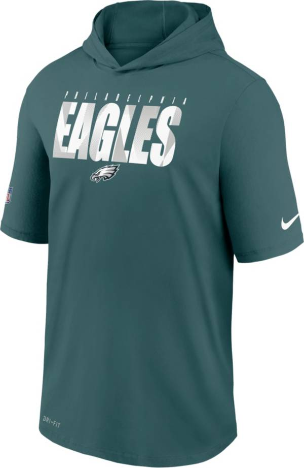 Nike Men's Philadelphia Eagles Sport Teal Short Sleeve Dri-FIT Training Hoodie product image