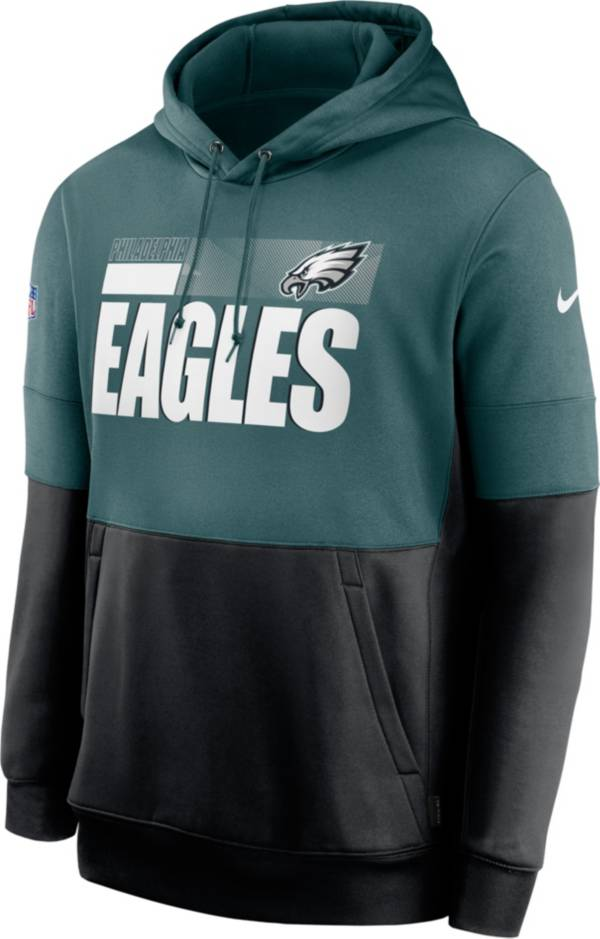 Nike Men's Philadelphia Eagles Sideline Lock Up Pullover Teal Hoodie product image