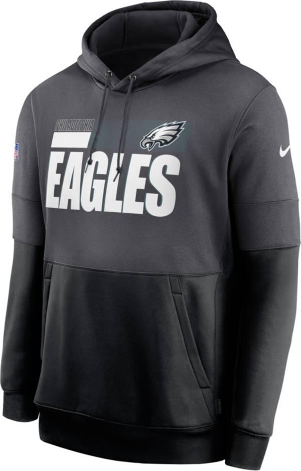 Nike Men's Philadelphia Eagles Sideline Lock Up Pullover Grey Hoodie product image