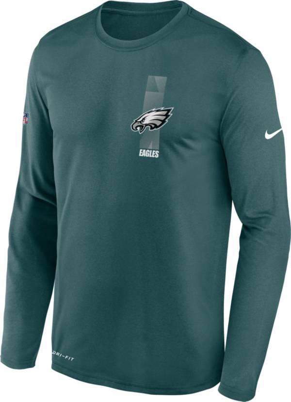 Nike Men's Philadelphia Eagles Sideline Legend Travel Green Long Sleeve T-Shirt product image