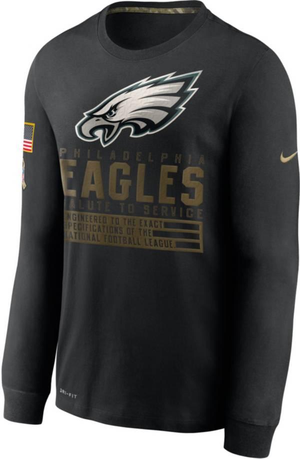 Nike Men's Salute to Service Philadelphia Eagles Black Long Sleeve T-Shirt product image