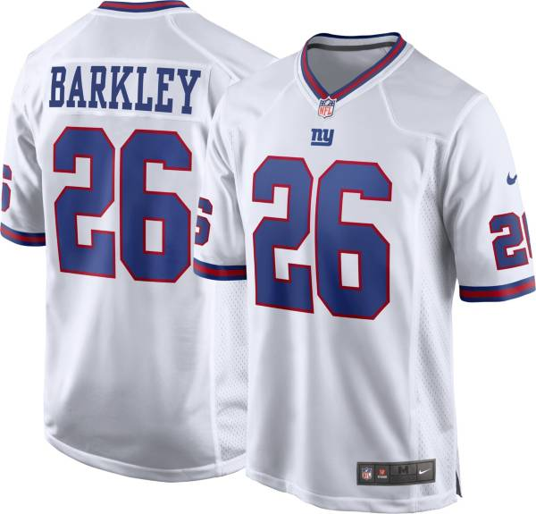 Nike Men's New York Giants Saquon Barkley #26 White Game Jersey product image