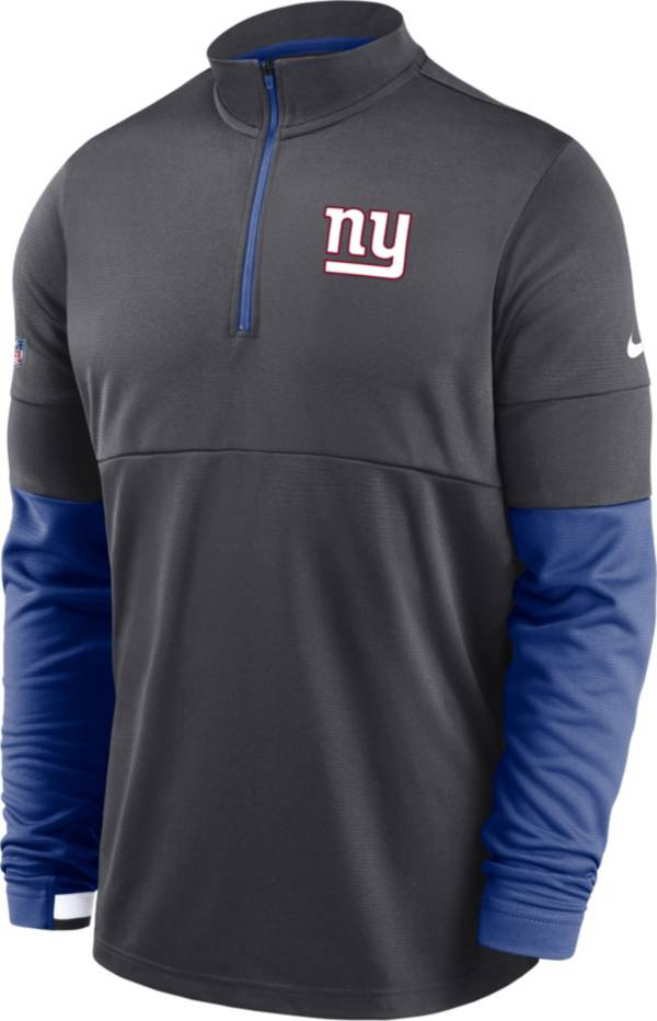 Nike Men's New York Giants Sideline Coach Performance Grey Half-Zip Pullover product image