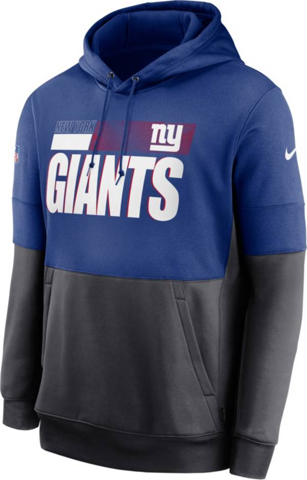 Nike Men's New York Giants Sideline Lock Up Pullover Royal Hoodie product image
