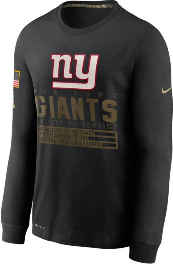 Nike Men's Salute to Service New York Giants Black Long Sleeve T-Shirt product image