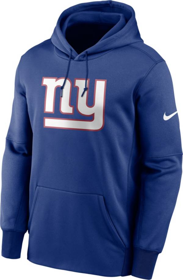 Nike Men's New York Giants Sideline Therma-FIT Royal Pullover Hoodie product image