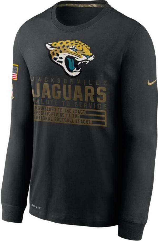 Nike Men's Salute to Service Jacksonville Jaguars Black Long Sleeve Shirt product image