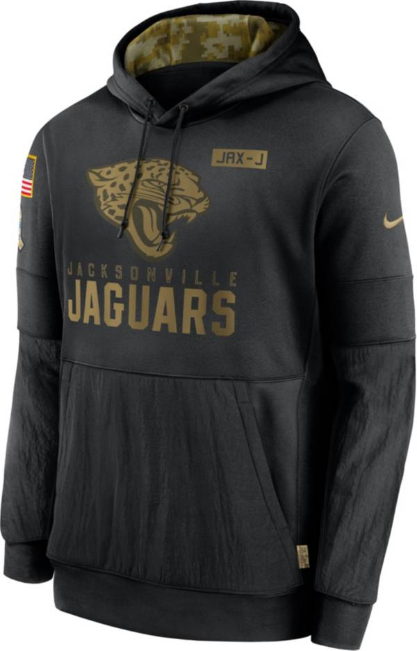 Nike Men's Salute to Service Jacksonville Jaguars Black Therma-FIT Pullover Hoodie product image