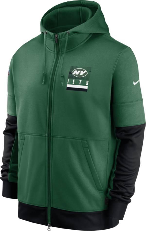 Nike Men's New York Jets Sideline Lock Up Full-Zip Green Hoodie product image