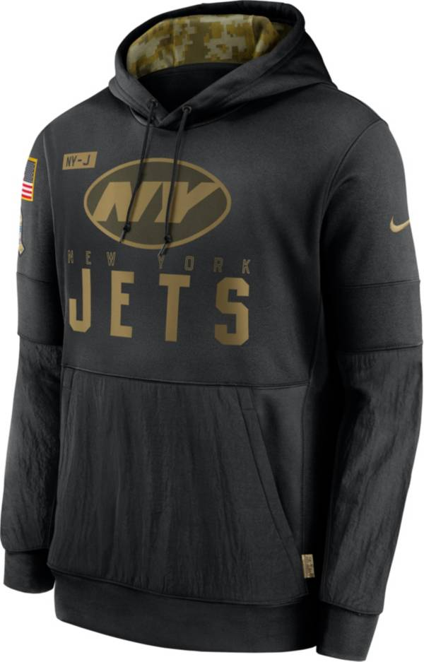 Nike Men's Salute to Service New York Jets Black Therma-FIT Pullover Hoodie product image