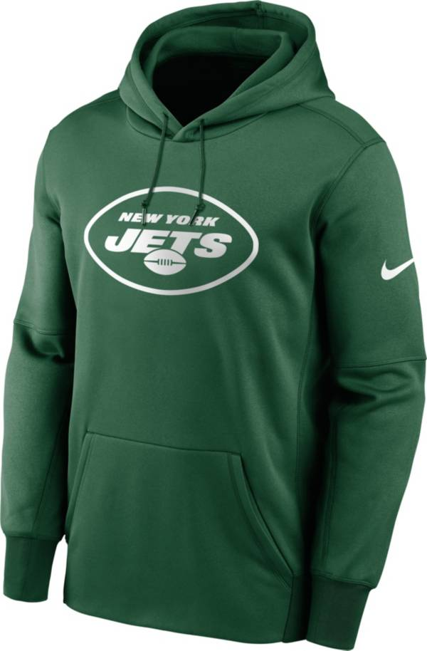 Nike Men's New York Jets Sideline Therma-FIT Green Pullover Hoodie product image