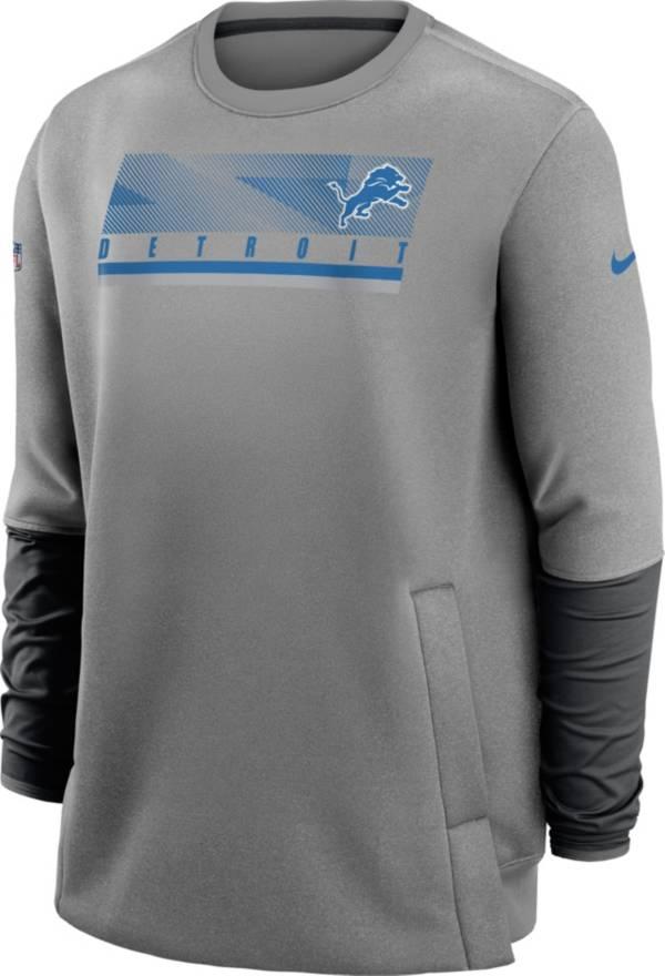 Nike Men's Detroit Lions Sideline Coaches Grey Crew Sweatshirt product image