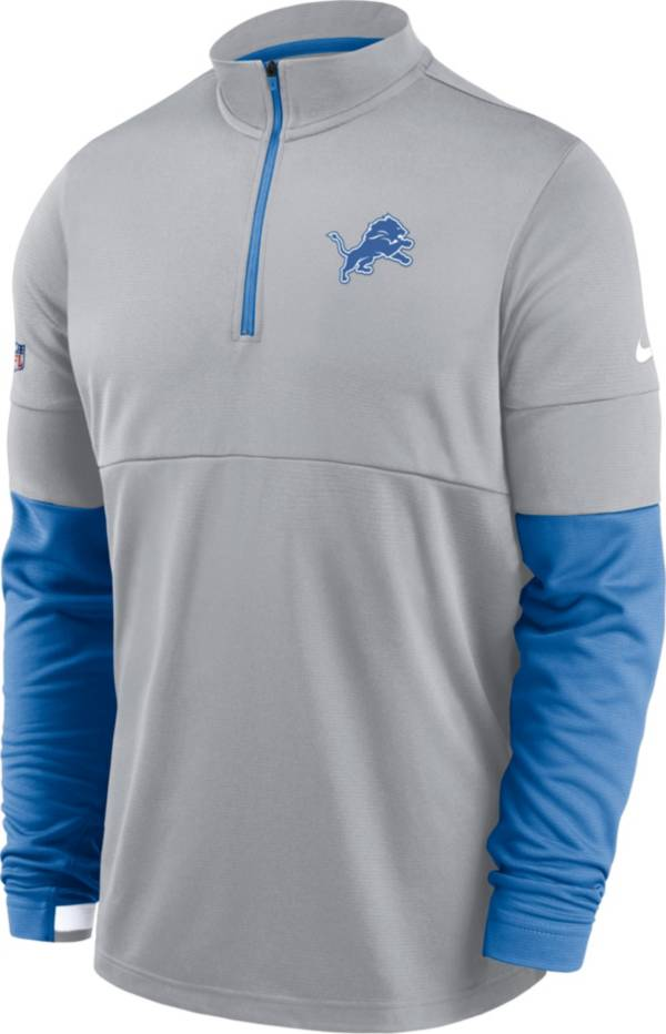 Nike Men's Detroit Lions Sideline Coach Performance Grey Half-Zip Pullover product image
