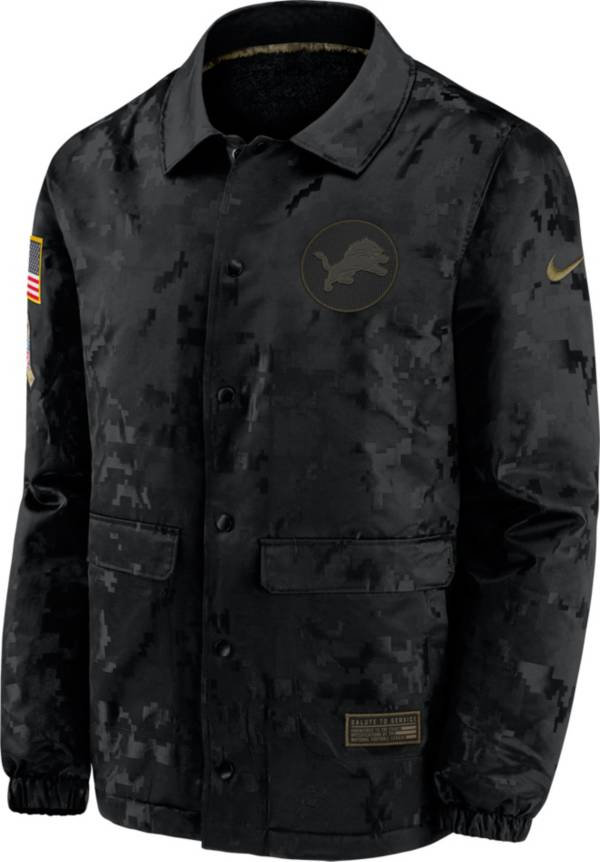 Nike Men's Salute to Service Detroit Lions Black Jacket product image