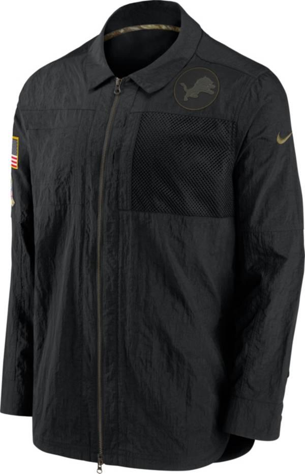 Nike Men's Salute to Service Detroit Lions Black Shirt Jacket product image