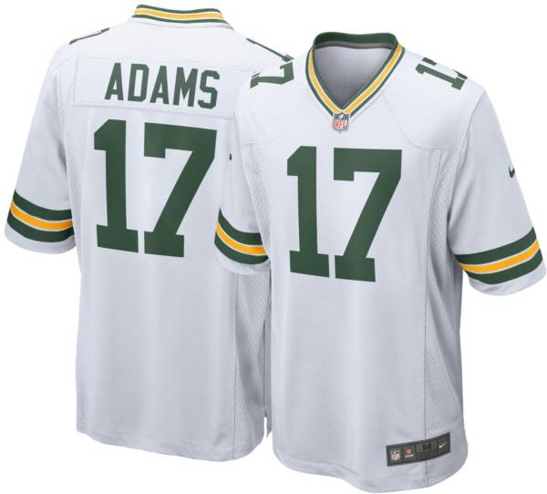 Nike Men's Green Bay Packers Davante Adams #17 White Game Jersey product image