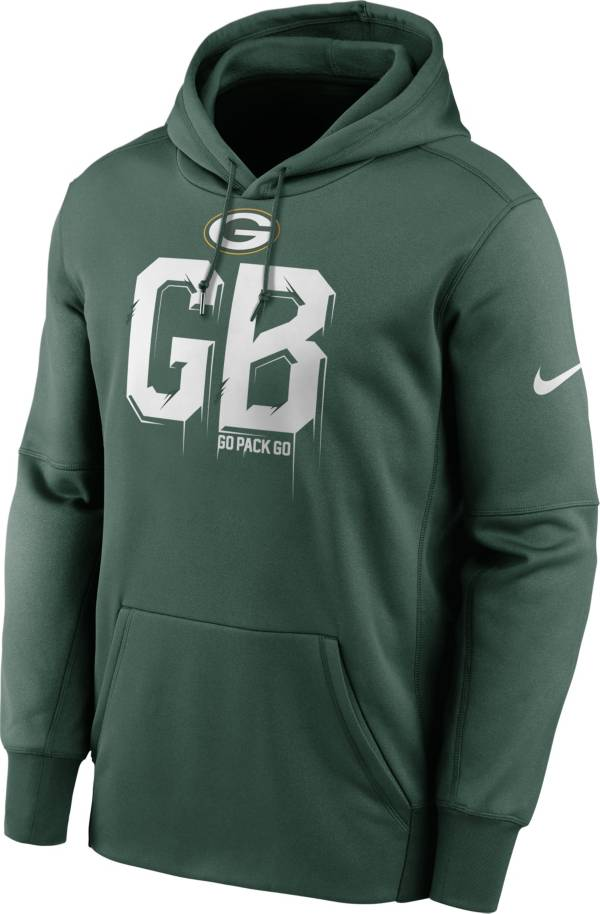 Nike Men's Green Bay Packers Fir Therma Pullover Hoodie product image