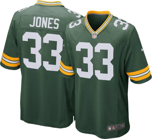 Nike Men S Green Bay Packers Aaron Jones 33 Home Green Game Jersey Dick S Sporting Goods