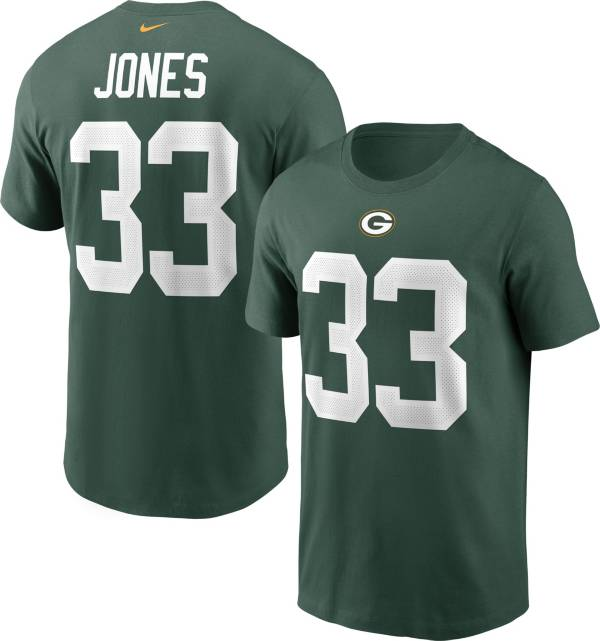 Nike Men's Green Bay Packers Aaron Jones #33 Legend Green T-Shirt product image