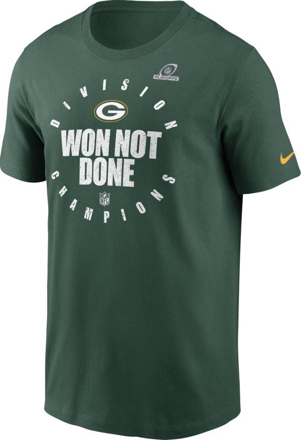 Nike Men's Green Bay Packers NFC North Division Champions Green T-Shirt product image