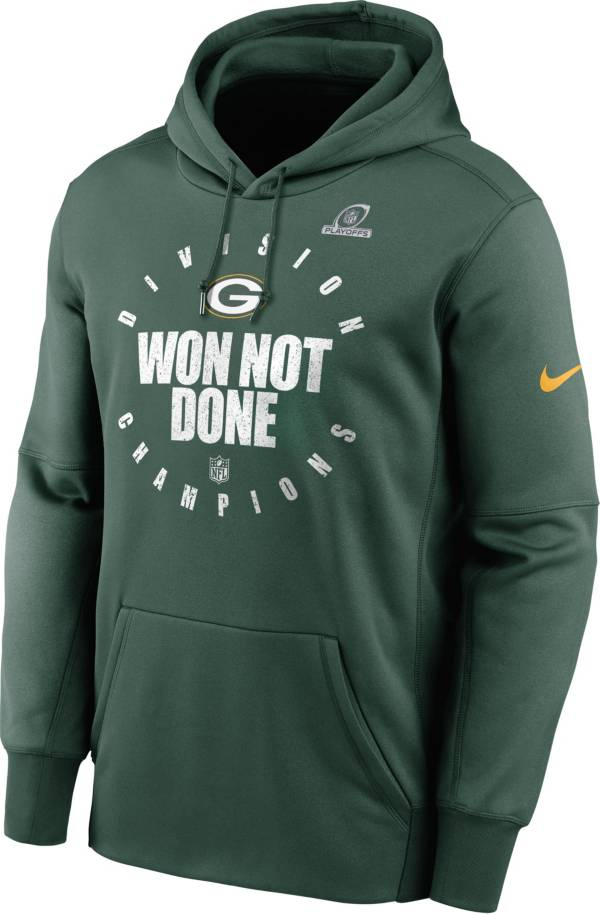 Nike Men's Green Bay Packers NFC North Division Champions Green Pullover Hoodie product image