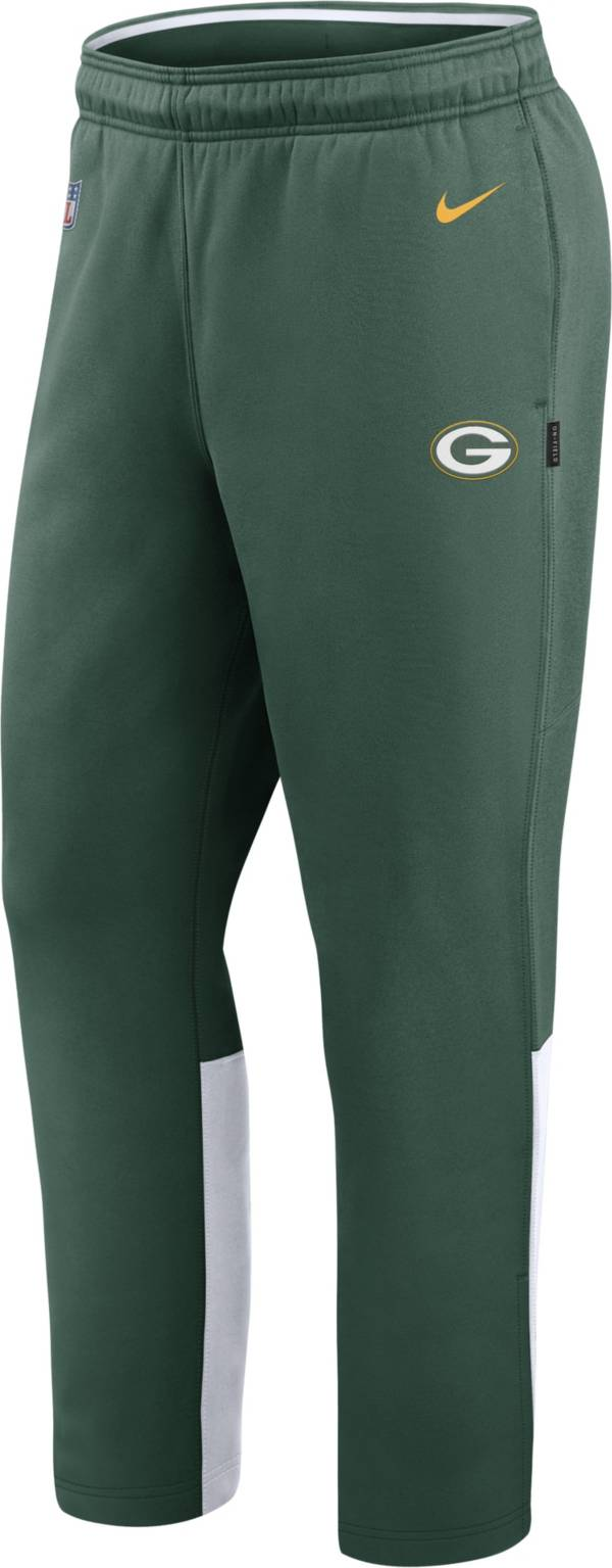 Nike Men's Green Bay Packers Sideline Logo Green Woven Pants product image