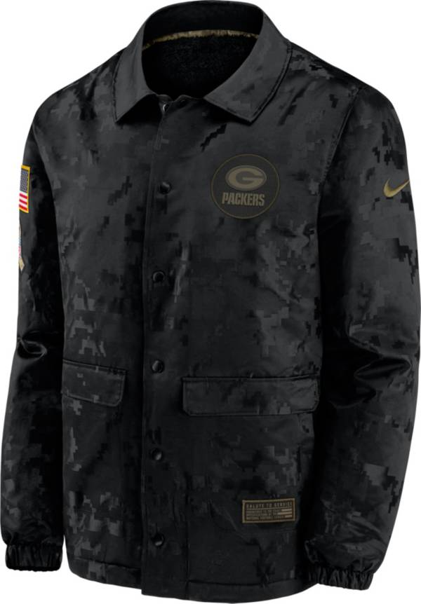 Nike Men's Salute to Service Green Bay Packers Black Jacket product image
