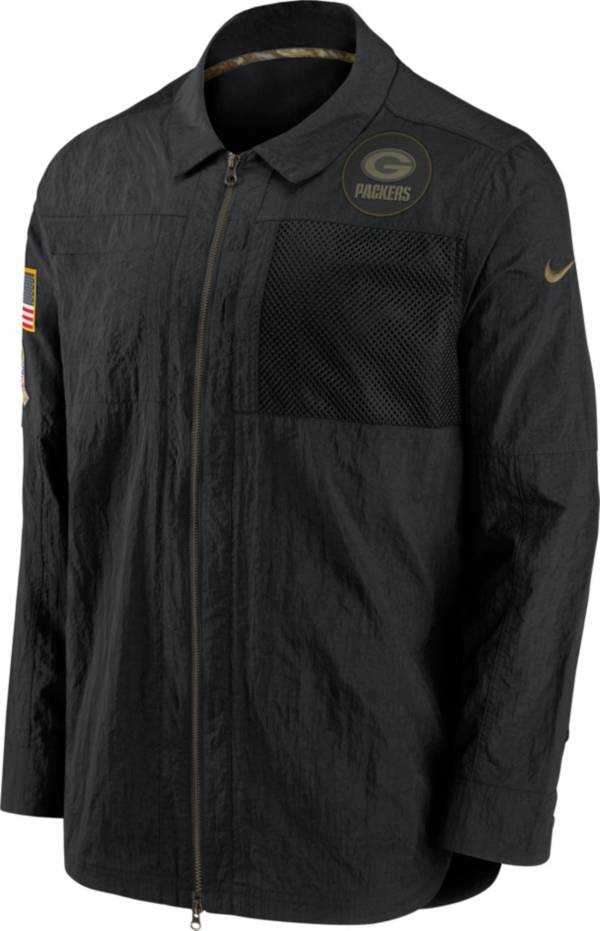 Nike Men's Salute to Service Green Bay Packers Black Shirt Jacket product image