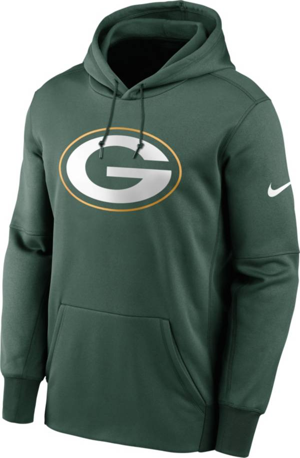 Nike Men's Green Bay Packers Sideline Therma-FIT Green Pullover Hoodie product image